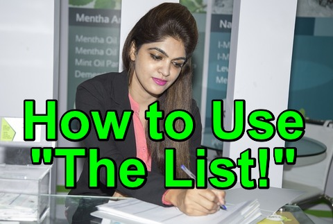 "How to Use ""The List!"""